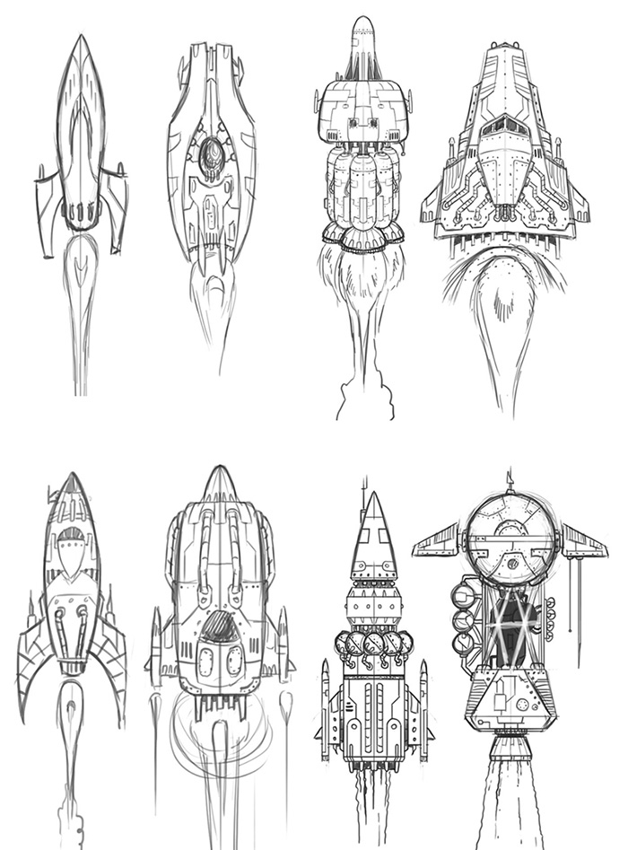P313 ship sketches