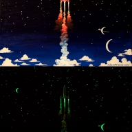 Glow-in-the-dark Rocket Painting (Both)