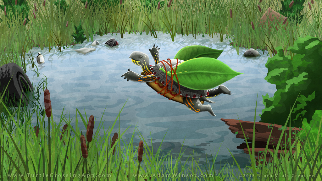 Turtle Crossing Wallpaper - 1080p